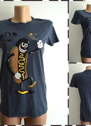 Fishbone ® футболка с принтом хот-дог размер s
