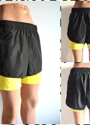 J.u.s.t ® sport двухслойные спортивные шорты  размер м (