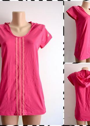 Adidas ® climacool  женская спортивная футболка с капюшоном ра...