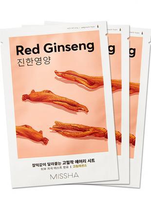 Тканевая маска Missha Airy Fit Sheet Mask Red Ginseng
