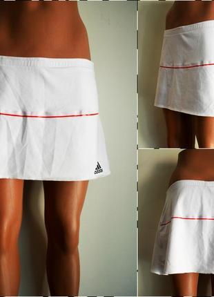 Adidas ® climacool спортивная двухслойная юбка-шорты