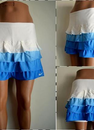 Nike ® fit dry спортивная двухслойная юбка-шорты