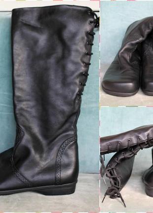Dansko кожаные ботфорты натуральная кожа с утеплением сапоги р...