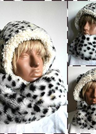 River island ® модная шапка-шарф с ушками зверошапка размер on...