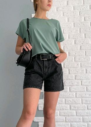 "Летняя блузка футболка свободного кроя ""Moment"""