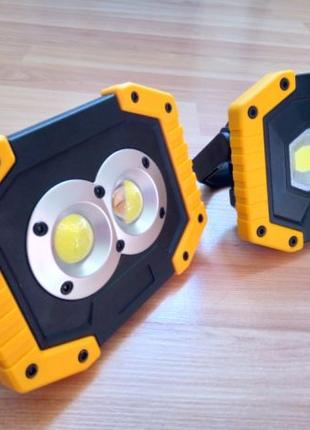 Мини-прожектор на аккумуляторах + Power bank (Повербанк)