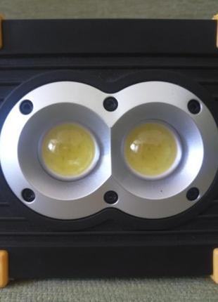 LED прожектор Аккумуляторный 3in1 + фонарик + Powerbank
