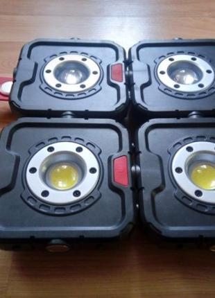 Фонарь / Прожектор Combi на магнитах светодиодный LED 10W линза