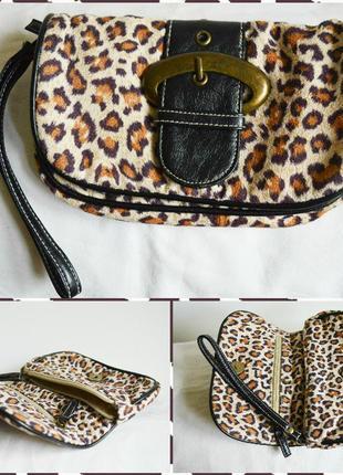 Клатч (кошелек) леопардовой раскраски