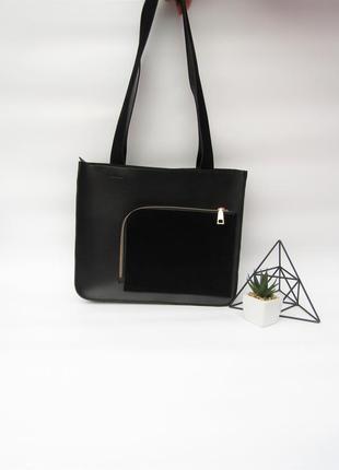 Черная сумка handmade