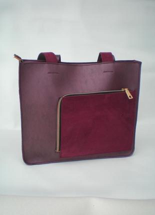 Бордовая сумка handmade