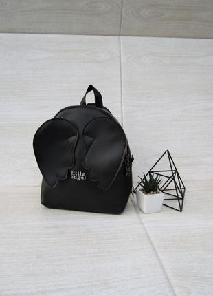"""Черный рюкзак """"крылышки""""  handmade"""