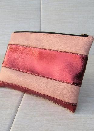 Бордовая косметичка handmade