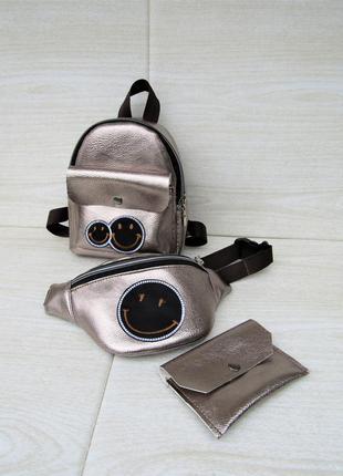 Детский набор 3 в1 (рюкзак + бананка + кошелек) handmade