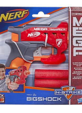 Детский пистолет нерф с большими стрелами - bigshock, n-strike...
