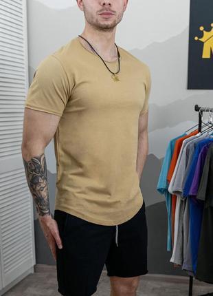 Мужская однотонная футболка