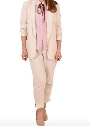 Льняной костюм - пиджак+штаны