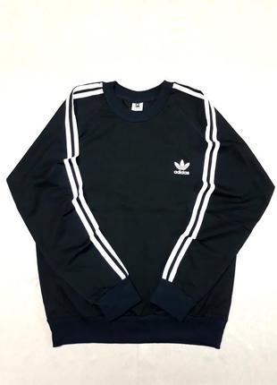 Спортивная мужская кофта/свитшот adidas, чёрный