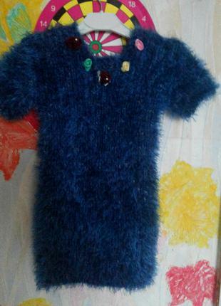 Платье -туника,травка