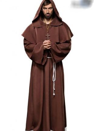 Костюм карнавальный мужской монах халат средниковый