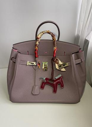 Женская кожаная сумка hermes birkin luxe