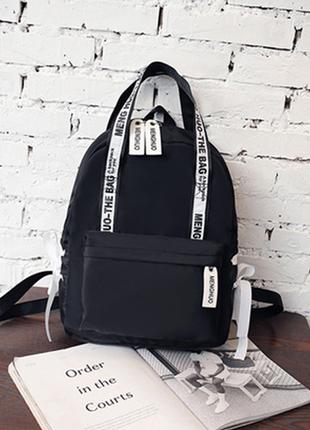 🔥🔥🔥черный женский рюкзак сумка для школы, рюкзак с двумя ручками