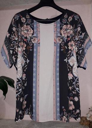 Debenhams женская блузка футболка нарядная в принт цветв больш...