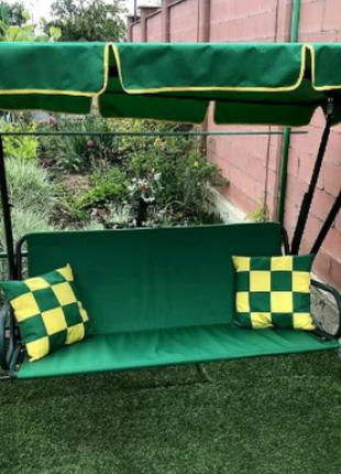 Набор текстиля на садовую качель из крыши ,сидение + 2 подушки