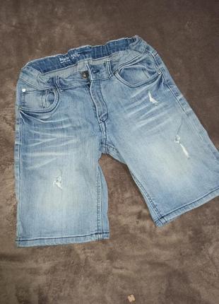 Шорты бриджи джинсовые на мальчика 11-12 лет