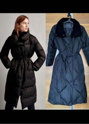 6000 до 15.06 Пуховик massimo dutti зимнее пальто