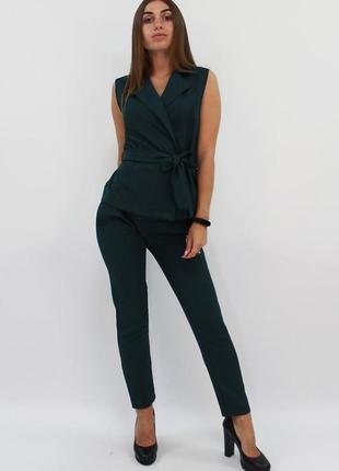 Шикарный женский костюм двойка жилет + брюки
