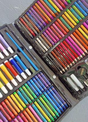 Набор для рисования творчества 168 предметов в чемодане Mega Art