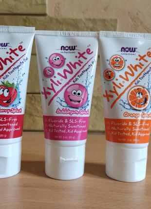 Детская зубная паста  Now Foods, XyliWhite 85 г
