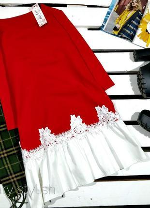 Красивое красное платье туника one love
