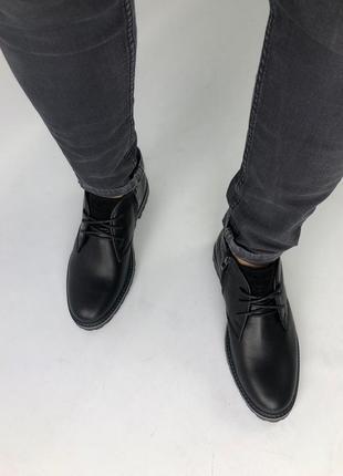 Lux обувь! крутые натуральные мужские ботинки 🥾 на меху