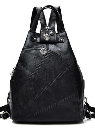 Рюкзак сумка трансформер женский городской треугольной формы (...