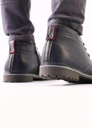Lux обувь! шикарного качества натуральные зимние ботинки сапог...