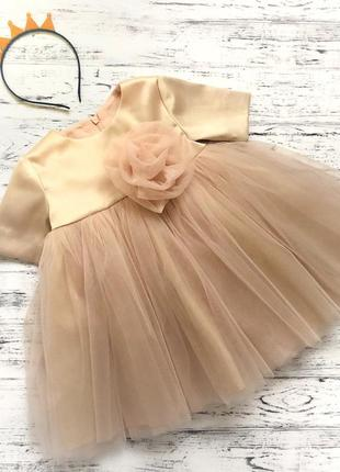 Фатиновое платье с бантом на годик