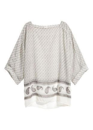 Воздушная,прозрачная ,легкая блузка,этно бохо стиль, h&m