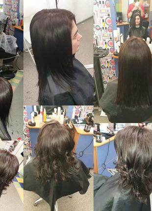 Покраски, стрижки, укладки, лечение волос