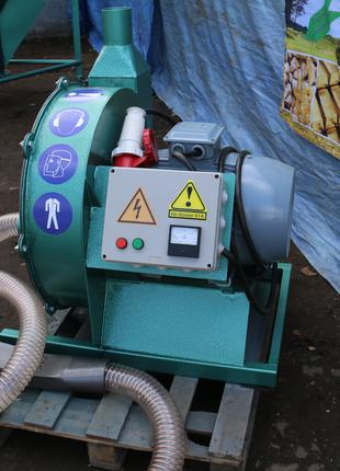 Зернодробилка с пневмошлангом 18,5кВт_1800кг.час. «ГК Биоэкопром»