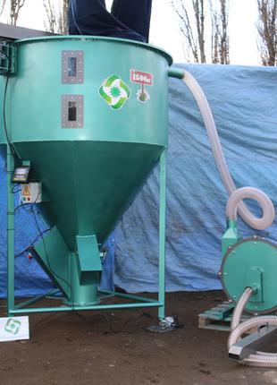 Зернодробилка молотковая вакуумная 22кВт. 2500кг. ГК Биоэкопром