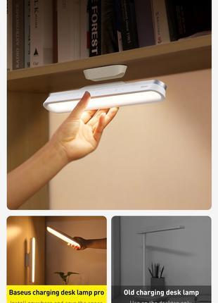Аккумуляторная магнитная LED лампа для дома Baseus Magnetic