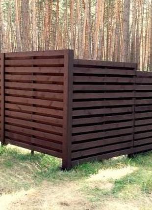 Изготовление и установка деревянных ограждений из натурального...