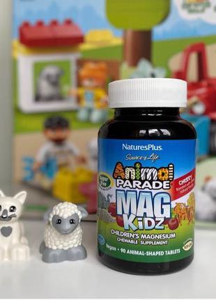 Магний для детей Nature's Plus, Animal Parade, MagKidz