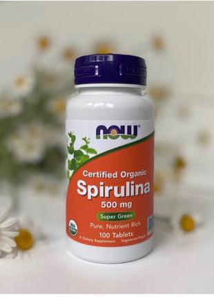 Спирулина от NOW Foods 100 капсул