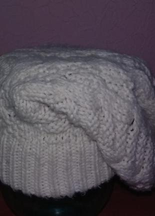 Шапка зимняя вязаная акриловая