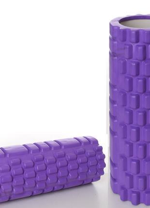 Массажный ролик для йоги CF88 Mono Фиолетовый (33х14 см) (MS 0...