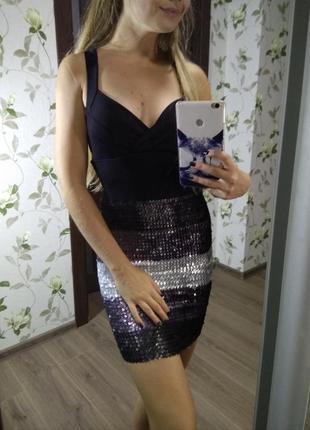 Платье платице сарафан в пайетки блестящее