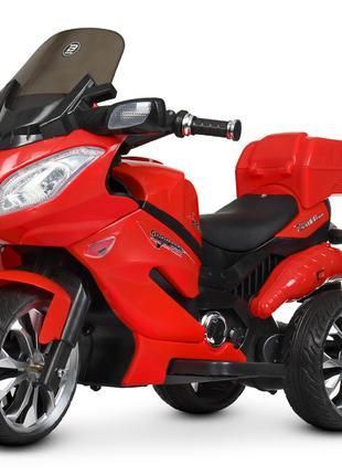 Детский мотоцикл M 4204 EBLR-3, с пультом управления, красный